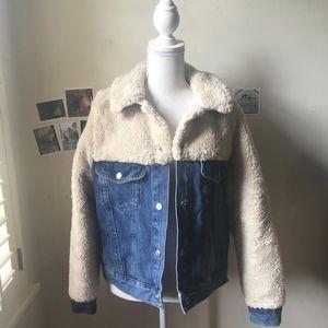 Hybrid Denim Jacket --Topshop